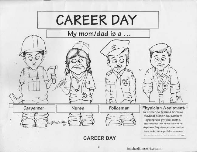 Career Day with web address