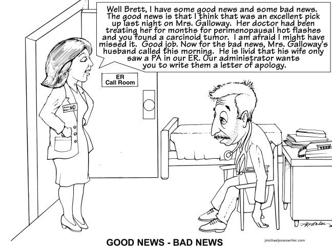 cartoon goodnews badnew with web address