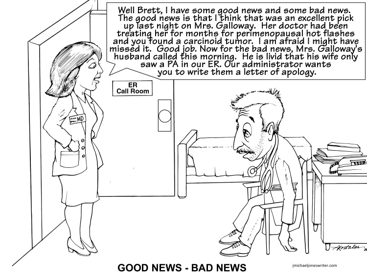 cartoon goodnews badnew with web address